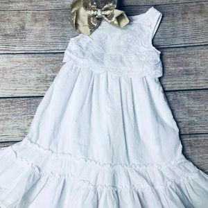 Cherokee sz18m white tank dress with embroidery